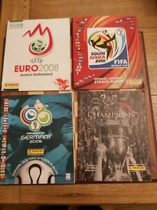 Joblot Bundle 4 x Panini Sticker Albums South Africa 2010 Germany 2006 Euro 2008