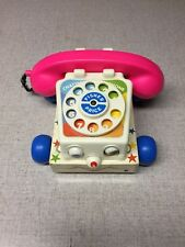 Fisher Price Retro Classic Chatter Phone Pull Toy Telephone Preschoolers 1985