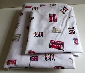THE LITTLE WHITE COMPANY LONDON SINGLE DUVET COVER AND PILLOWCASE