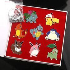Gym Badges Ivysaur Pikachu Charmander Squirtle Metal Pins 8 pcs Pokemon New WB01