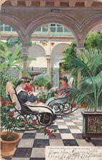 * SPAIN - Sevilla - Costumes andaluzas, Patio de una casa 1901