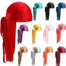Men Women Turban Hat Pirate Doo Durag Headwear Comfortable Silk/Silky Feel Cap