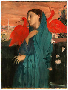 "Impressionism ""Young Woman with Ibis"" Edgar Degas ca. 1862"