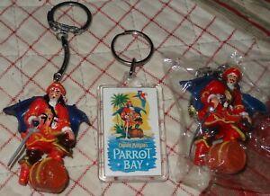"""Lot 3 """"CAPTAIN MORGAN'S"""" Parrot Bay Rum Pirate Souvenir Keychain FREE S/H"""