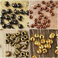 Crimp Cover Beads Knot Silver Gold Brass Copper Gunmetal 3mm 4mm 5mm 22-66pcs