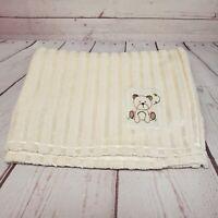 Chick Pea 30x40 Beige Striped Bear Bee Baby Blanket