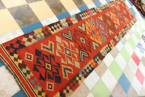 3071...Best Quality Hand Woven Lamb Wool Kilim..Size ..345 .x 93..CM