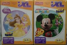 ⭐ 2 Fisher Price IXL Games Mickey Mouse Clubhouse 3D &Disney PRINCESS Brand New