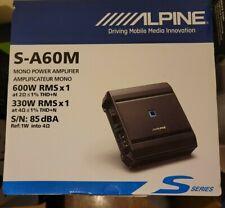 Alpine Sa60M S-Series Class D Mono Amplifier