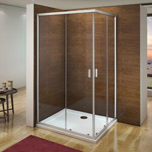 Corner Entry Shower Enclosure Walk In Sliding Door Glass Cubicle 760 800 900