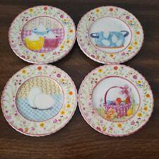 "MWW Market How To Dye Eggs 4.5"" Mini Plate Set Pastel 4 Piece"