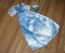 Barbie Blue & White Gown Dress With Purse & Hills Nice Beautiful!