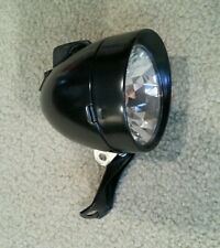VINTAGE TYPE  BULLET BICYCLE HEADLIGHT BLACK ,OLD SCHOOL LOOK