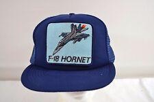 F-18 Hornet Jet Blue Trucker Baseball Cap Snapback