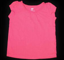 H&M Kurzarm Mädchen-T-Shirts & -Tops aus 100% Baumwolle ohne Muster
