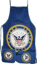 Blue US Navy Seal Emblem BBQ Barbeque Apron Cook Set