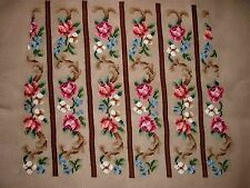 EP 3444 All Over Rose Floral Chair Seat Vintage Preworked Needlepoint Canvas
