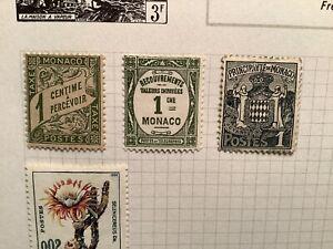4 Monaco Early Stamps Light Hinge