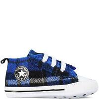 Converse All Star Tartan Baby Crib Boy Girl Infant Trainer Soft Sole Shoes 1-4