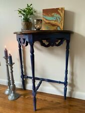 Entry Half Moon Console Sofa Table Hallway End Small Entryway