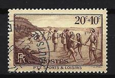 France 1937 sports et loisirs Yvert n° 345 oblitéré 1er choix (2)