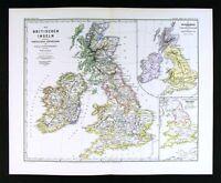 1880 Spruner Map - British Isles 12 Century to the Reformation - England Ireland