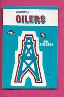 1987 FLEER HOUSTON OILERS NFL FOOTBALL STICKERS  NRMT-MT CARD (INV# C3889)