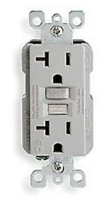 *NEW* Leviton 8899-GY SmartLock GFCI Receptacle 20A, 125V, Outlet, Gray