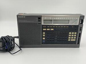 Sony ICF-2010 Portable Shortwave Radio Receiver Air/FM/LW/MW/SW Works!