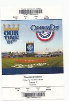 2012 KANSAS CITY ROYALS VS CLEVELAND INDIANS OPENING DAY TICKET STUB 4/13/12
