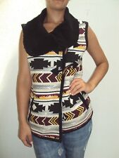NEW VOLCOM WOMEN BABA BLACK SHEEP VEST COAT SWEATER SMALL SS6