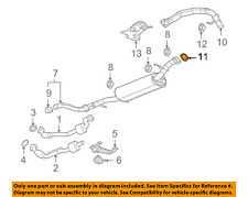 Hummer GM OEM 09-10 H3T Exhaust-Tailpipe Gasket 15036012