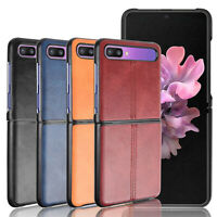 Leather Protective Phone Case Split Cover Shell for Samsung Galaxy Z Flip Phone