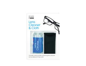 2Pc LENS CLEANER SPRAY & CLOTHS SET Wipe Clean Optical Camera Glasses Sunglasses