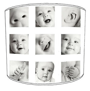 Personalised Printed Baby Photo Collage Table Lampshades Or Ceiling Lights