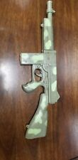 Vintage Marx Plastic Machine Gun (Camouflage) . All Plastic. Makes Gun Sounds