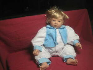 """VTG 1997 Cititoy Baby Doll 19""""Long~10""""Wide Blonde Haired Blue-Eyed BOY - SUPERB!"""
