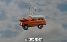 1973 Ford Bronco 4x4 Truck Custom Christmas Ornament 1/64 Emblem Explorer Adorno