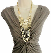 """Stunning 18 - 31"""" Long Layered Chain Necklace with Pendant Crystals Faux Pearls"""