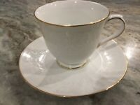 White Lace Gold by NIKKO FOOTED CUP & SAUCER SET, Thailand