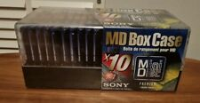 More details for 10 brand new sony colour collection 74 minute blank recordable minidiscs + case