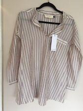 NWT MARNI SZ IT 42 Striped Purple & White Long Sleeve Shirt Dress Tunic