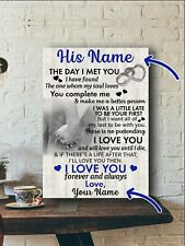 Personalzied Photo - The Day I Met You Canvas 0.75in Framed Made In Us