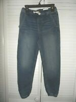 Cool Sonoma boys size 8 denim blue jean joggers drawstring waist NWT