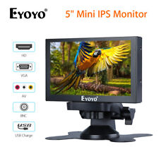 "EYOYO 5"" Mini IPS Car Rear View Monitor With VGA/HD/BNC/AV Input For PC Camera"