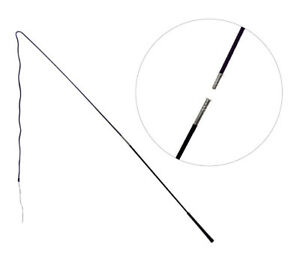 Showmaster Lunge Whip 160Cm 2 Piece Black Horse Training Lunging Driving