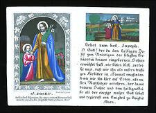 santino incisione 1800 S.GIUSEPPE dip. a mano