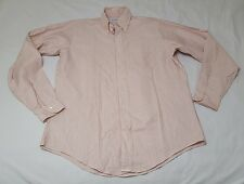 Brooks Brothers Men´s White Striped Long Sleeve Casual Polo Shirt, Sz 161/2-37