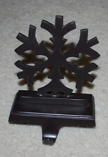 Metal Snowflake Christmas Stocking Hanger Holiday Seasonal Display 7""