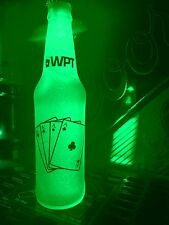 World Poker Tour Cards 12 oz Beer Bottle Light LED Bar Man Cave